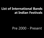 List of International Bands at Indian Festivals