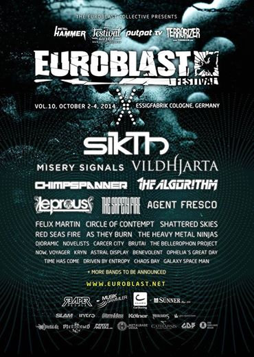 Sikth Euroblast Festival Lineup Poster