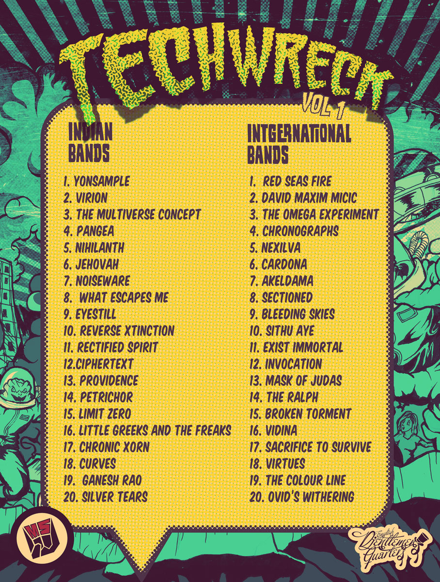 TECHWRECK VOL I COMPILATION - ARTISTS - SONGS