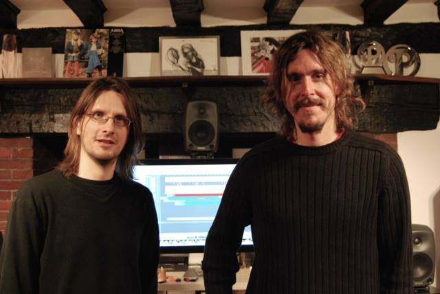 Steven Wilson and Mikael Akerfeldt in studios recording Opeth's New Album - Pale Communion